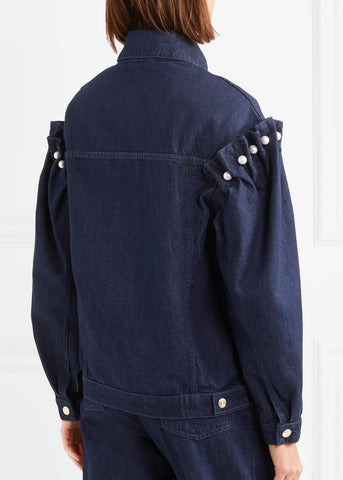 Mother of Pearl Brenon jacket in blue