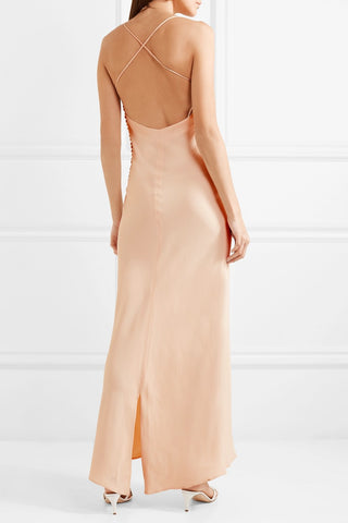 Khaite margot dress blush