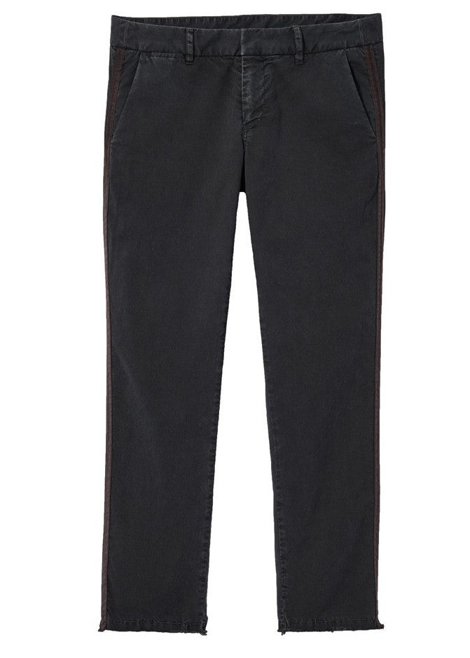 Nili Lotan east hampton pant with red tape black