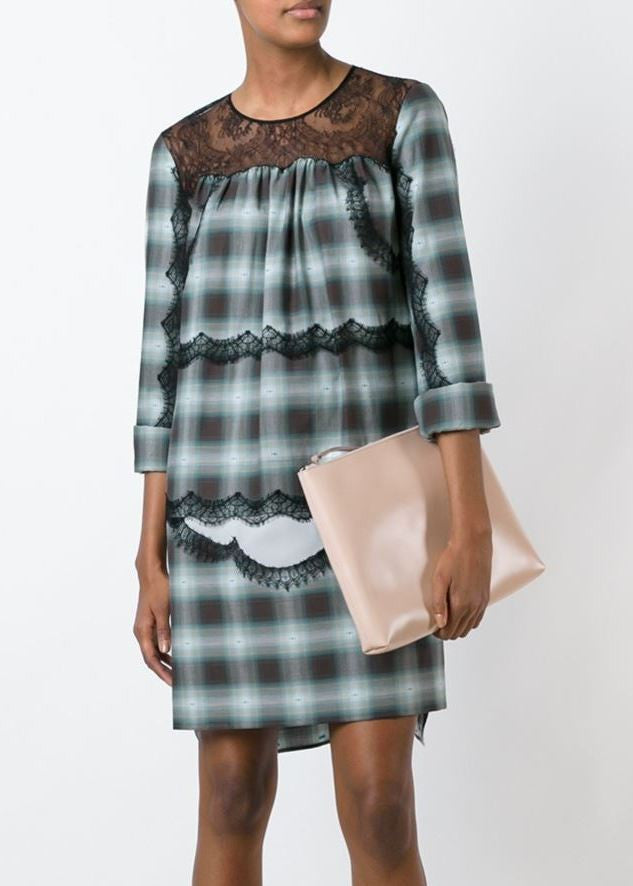 No.21 plaid dress blue