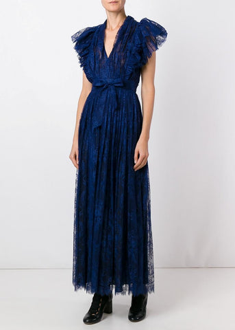 Philosophy di Lorenzo Serafini long lace dress blue