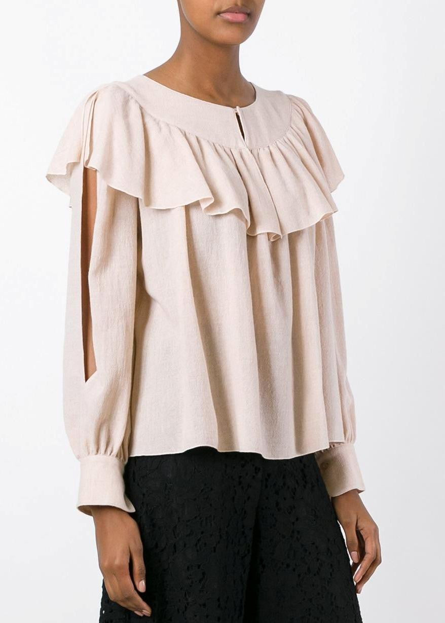 See by Chloe ruffle blouse powder