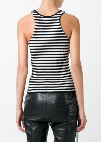Philosophy di Lorenzo Serafini stripe tank black white