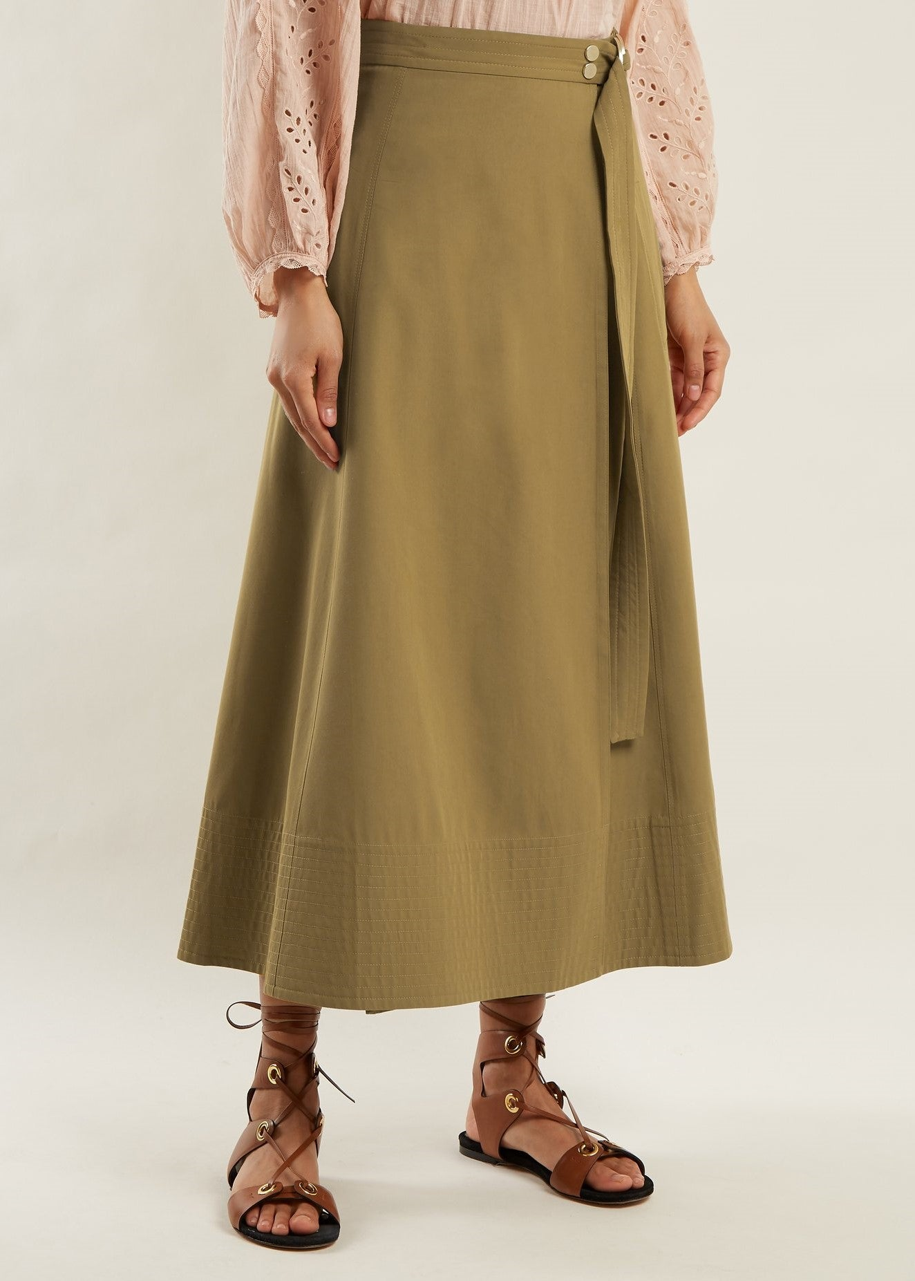 Vanessa Bruno Ikla skirt in Kaki