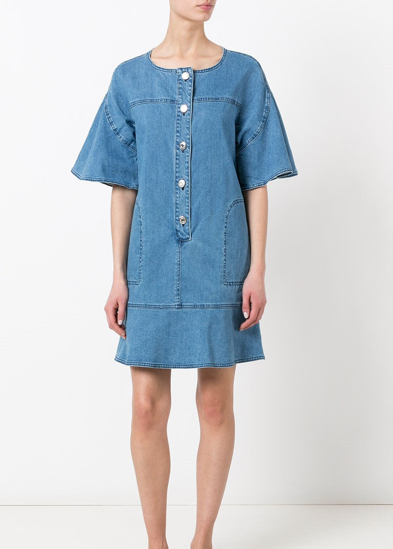 See by Chloe denim dress with flared sleeves
