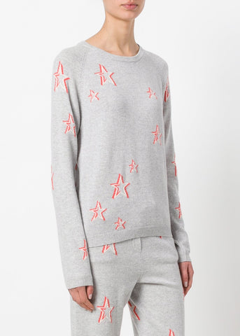 Chinti & Parker 3D star sweater grey