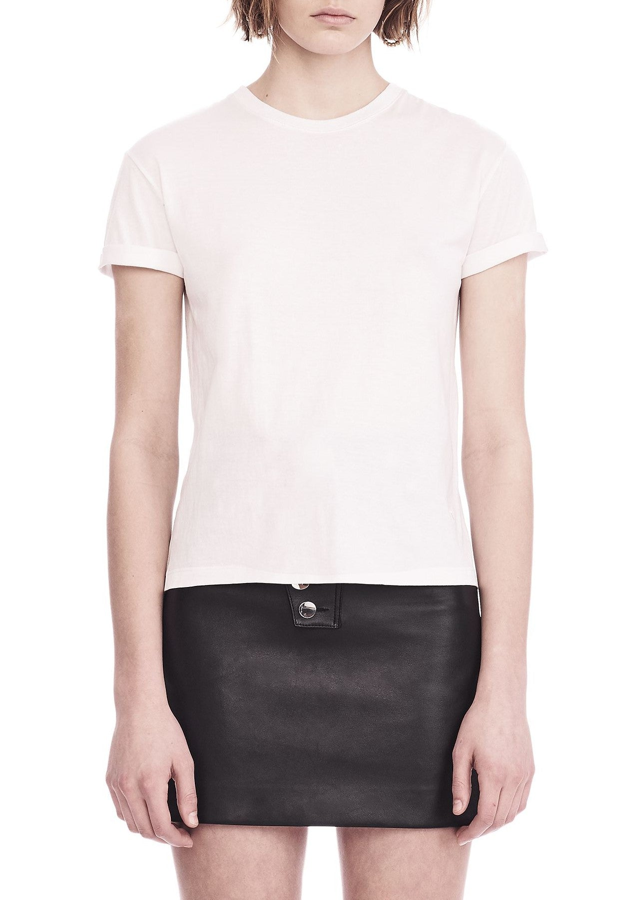 T by Alexander Wang superfine jersey crewneck tee white