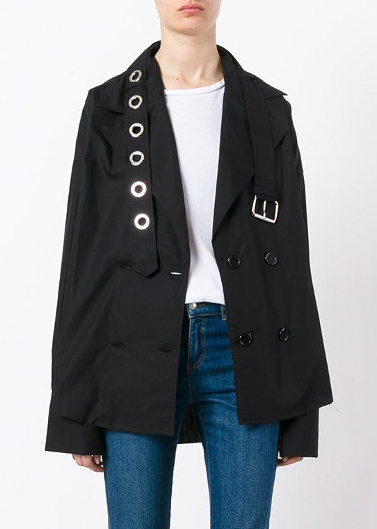 Marques Almeida trench coat shirt black