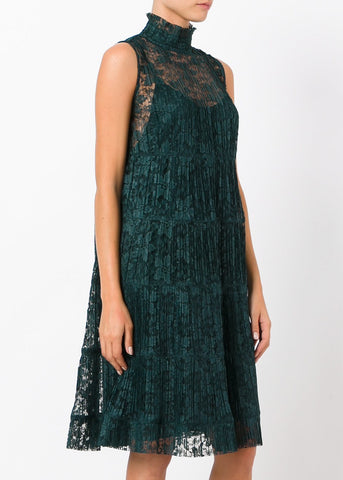 See by Chloe sleeveless dress deep forest