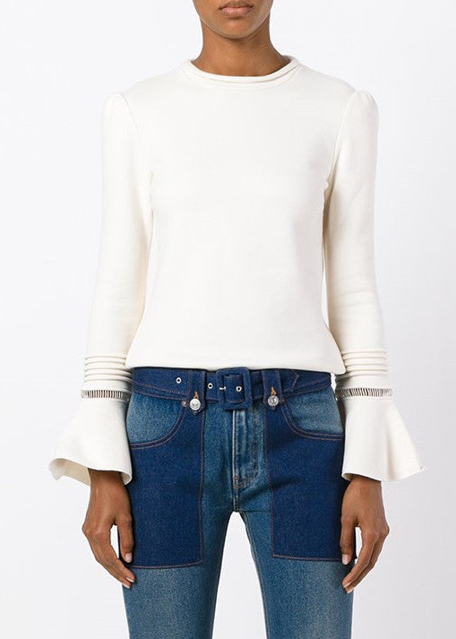 See by Chloe bell sleeve top white