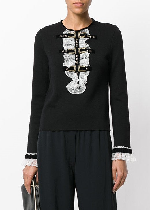 Philosophy di Lorenzo Serafini longsleeve top with bib detail black