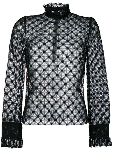 Philosophy di Lorenzo Serafini longsleeve lace top black