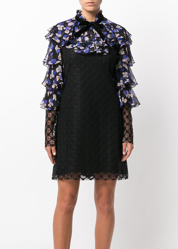 Philosophy di Lorenzo Serafini ruffle print dress purple