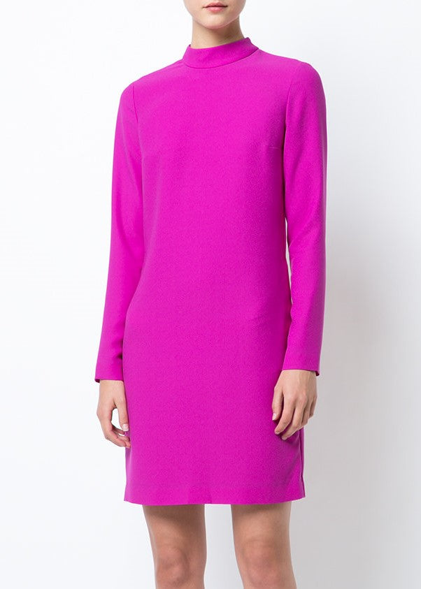 Carven longsleeve mini dress fuschia