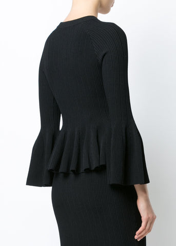 Jonathan Simkhai Bell Sleeve Top black