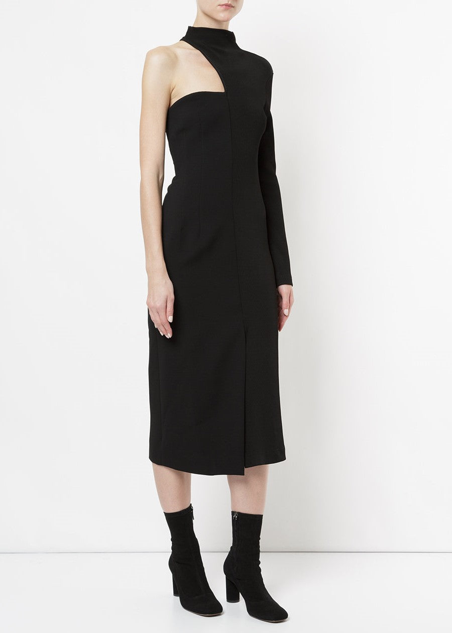 Christopher Esber half rib strapless dress black