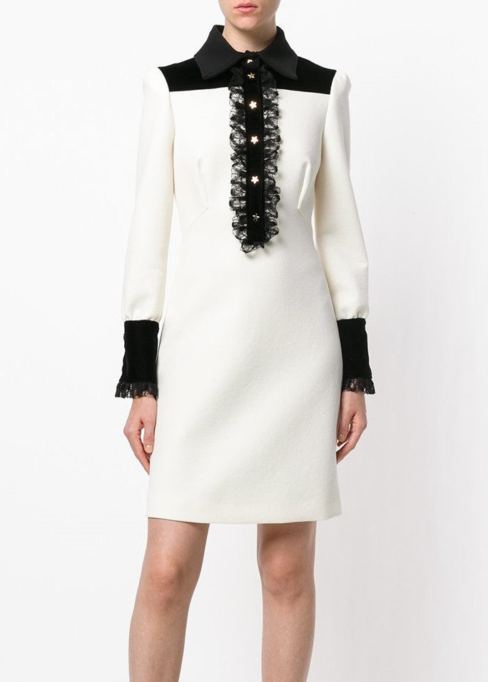 Philosophy di Lorenzo Serafini longsleeve shirt dress ivory