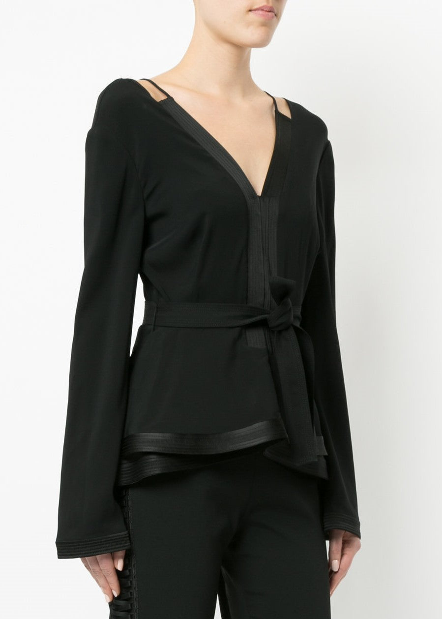 Jonathan Simkhai Combo Stitch Blouse midnight