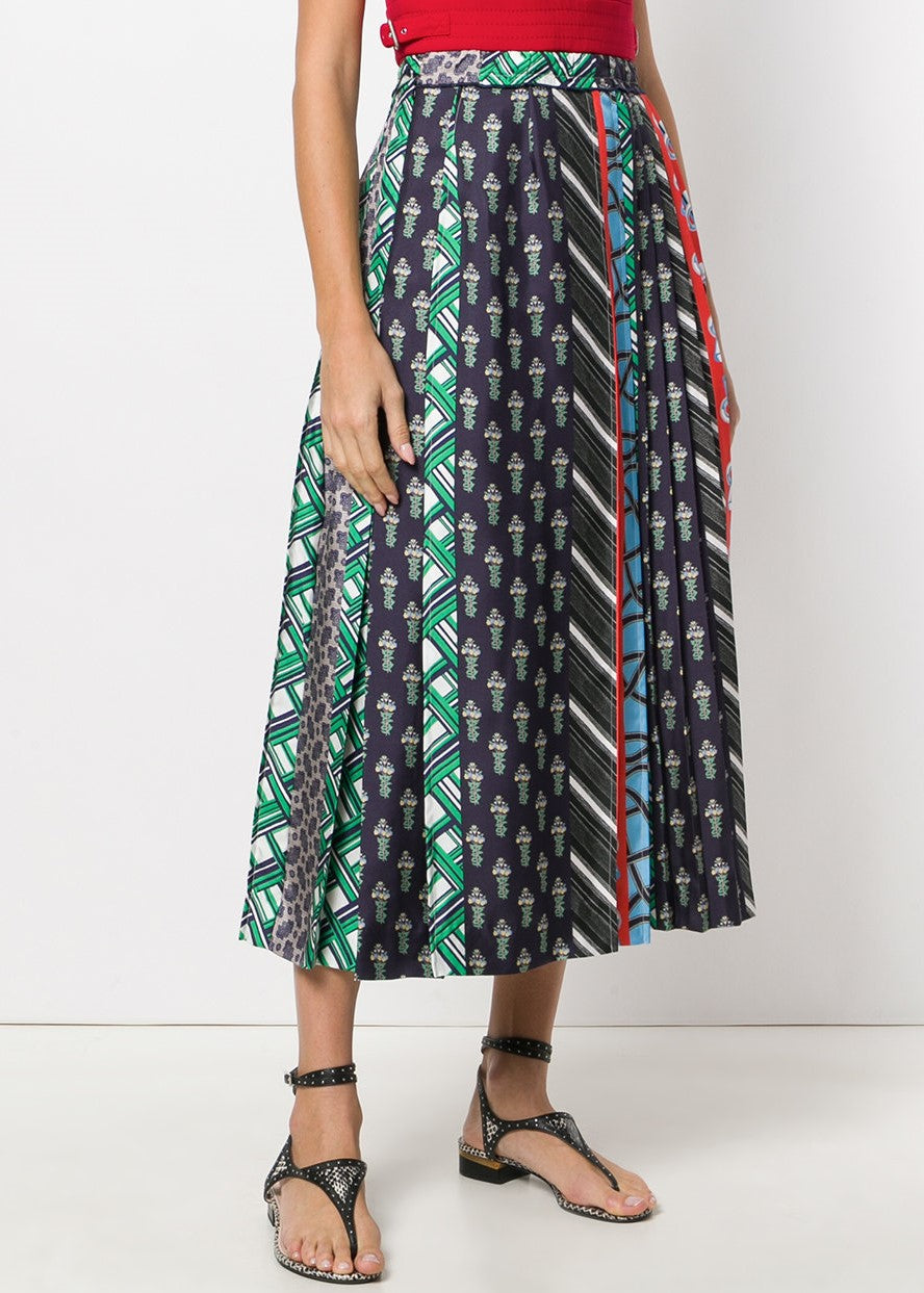 Carven pleated skirt multi