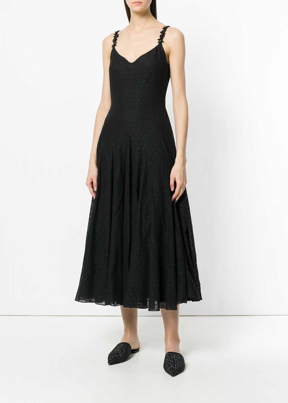 Noon by Noon emma lace strap dress black