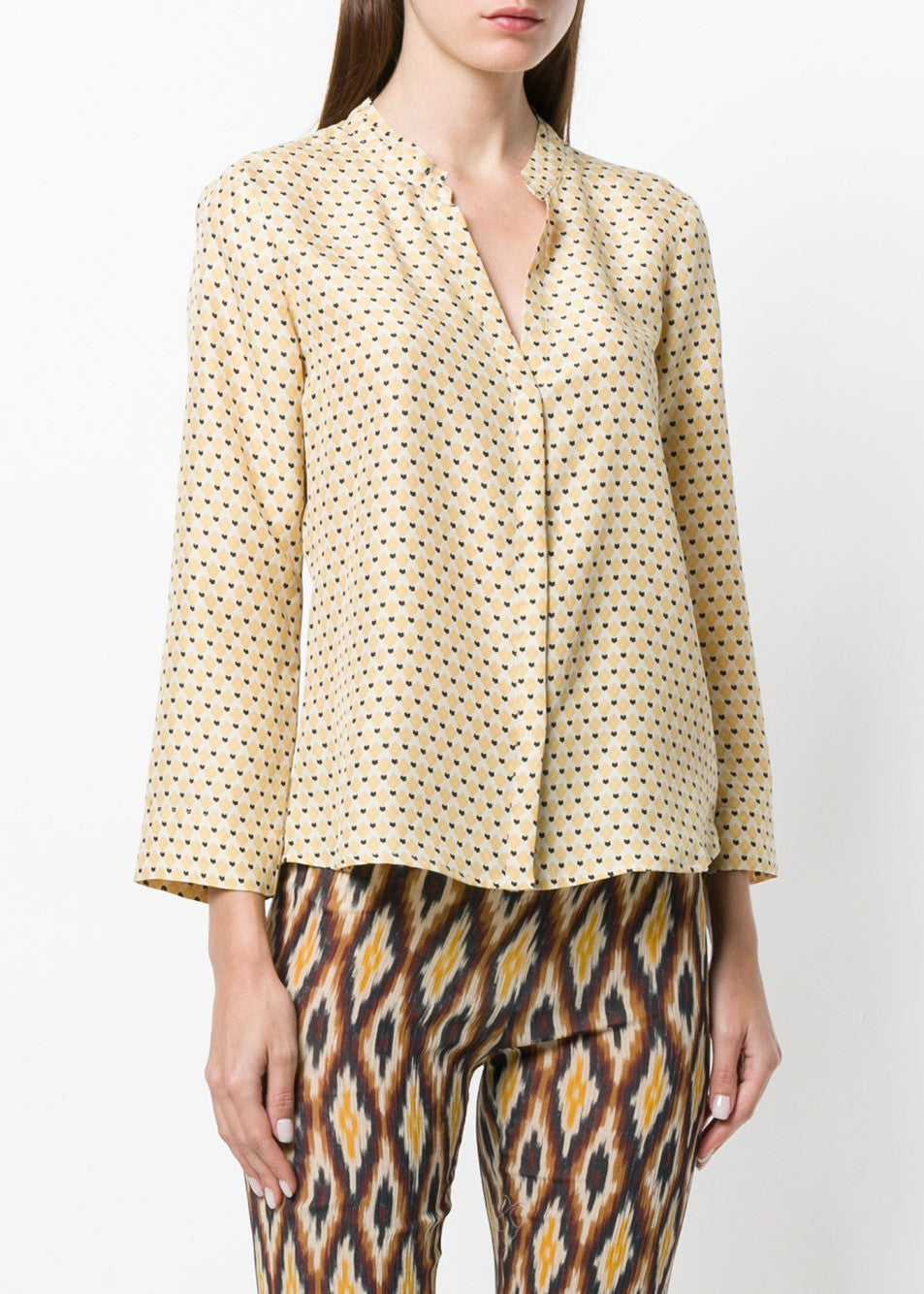 Diega Costa top in yellow print