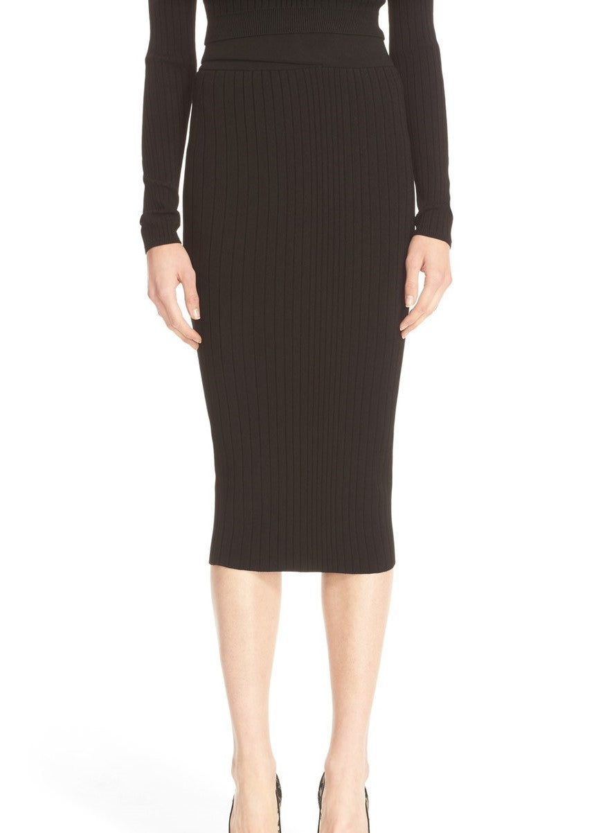 Cushnie et Ochs crisscross waistband pencil skirt black