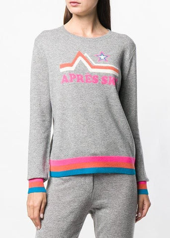 Chinti and Parker Apres ski sweater in light grey multi