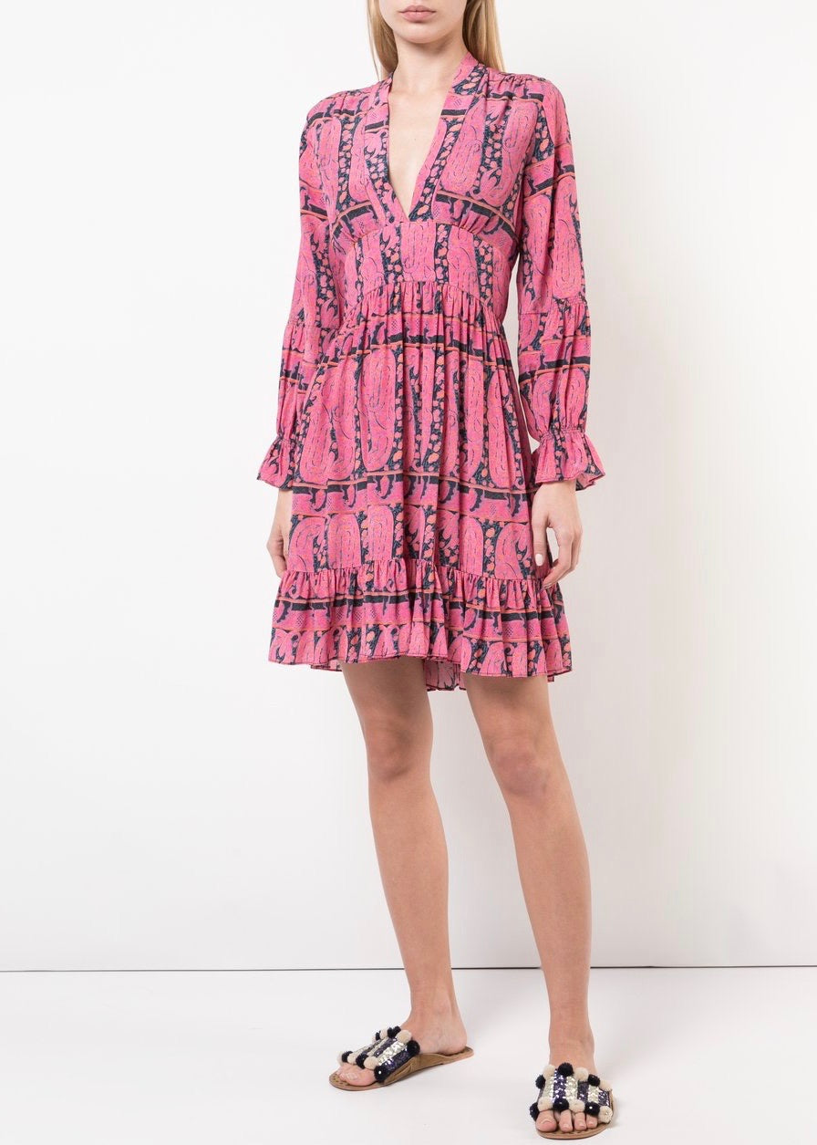 Figue Sienna dress in paisly pink