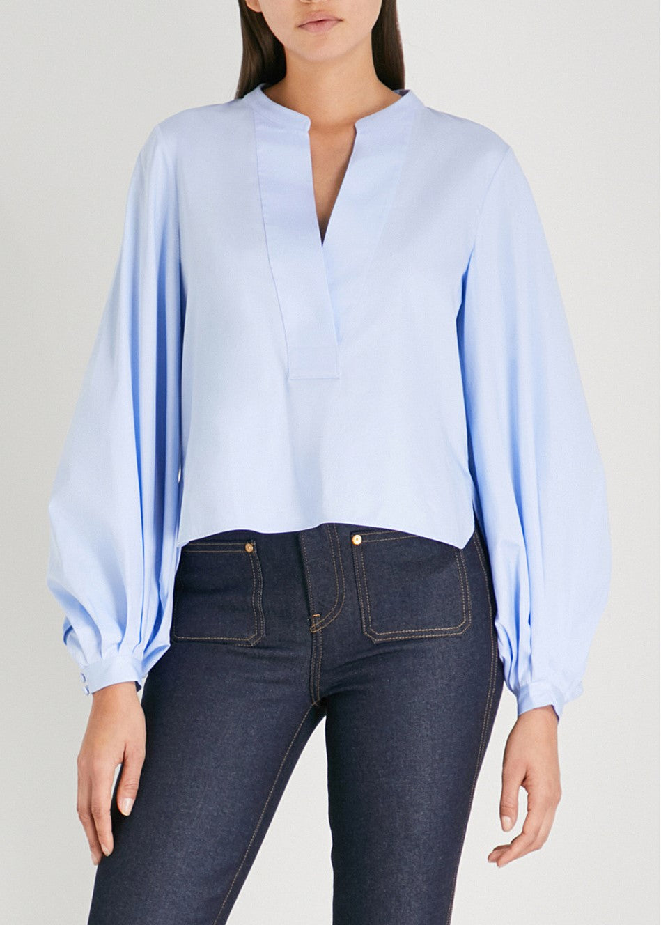 Khaite Suzanna top in sky blue