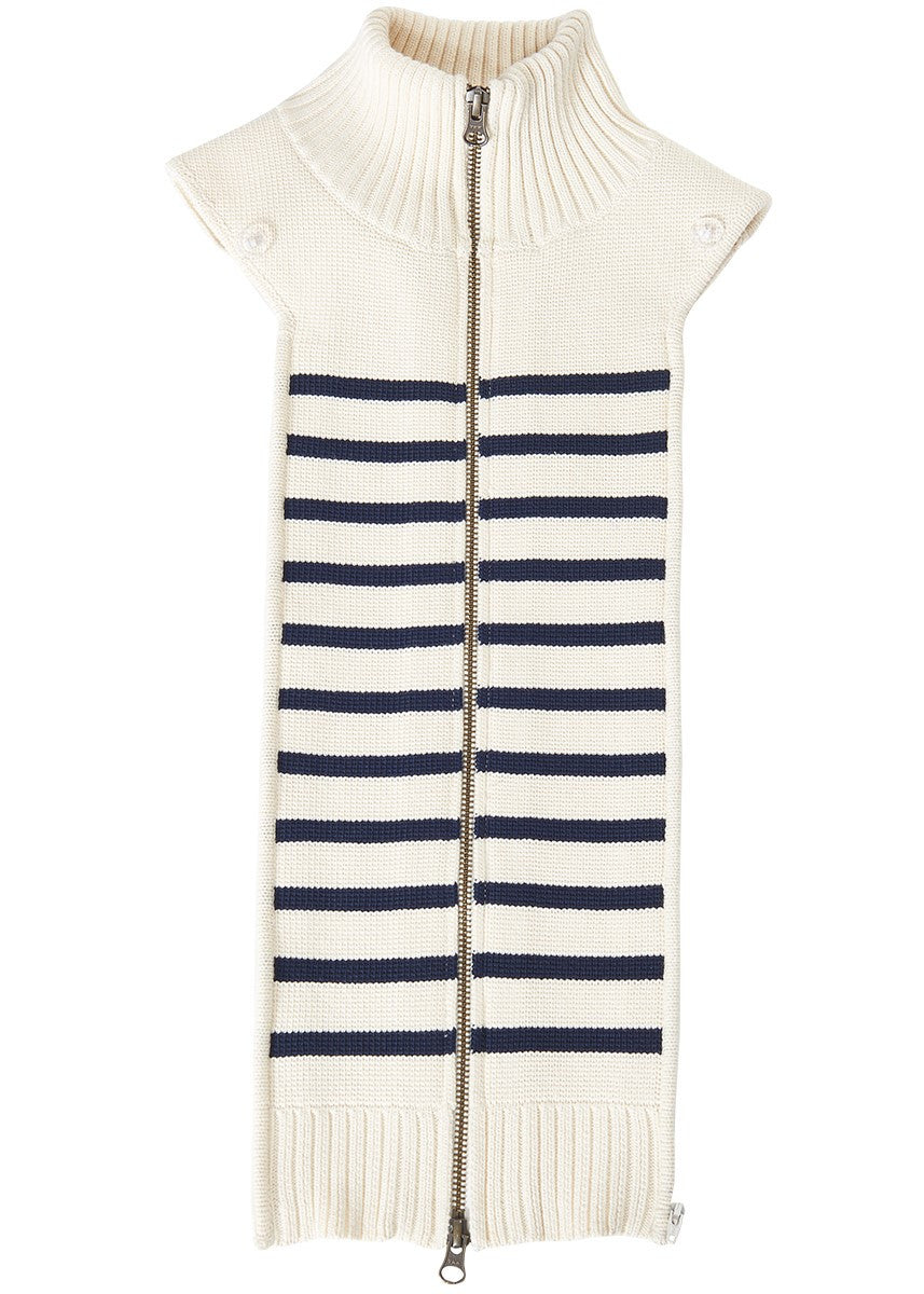 Veronica Beard mariner stripe dickey navy ivory