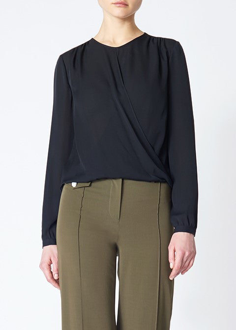 Veronica Beard logan surplus top black