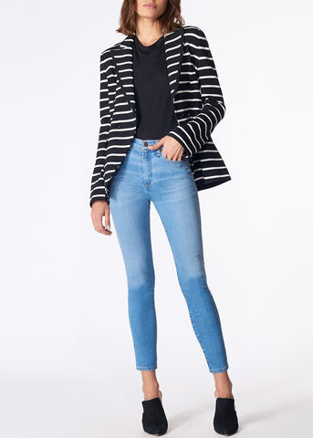 Veronica Beard fontana jacket black white stripe