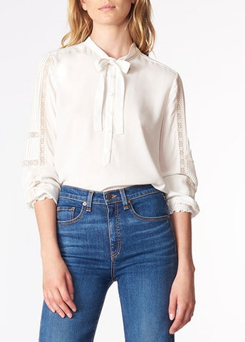 Veronica Beard thayer blouse white