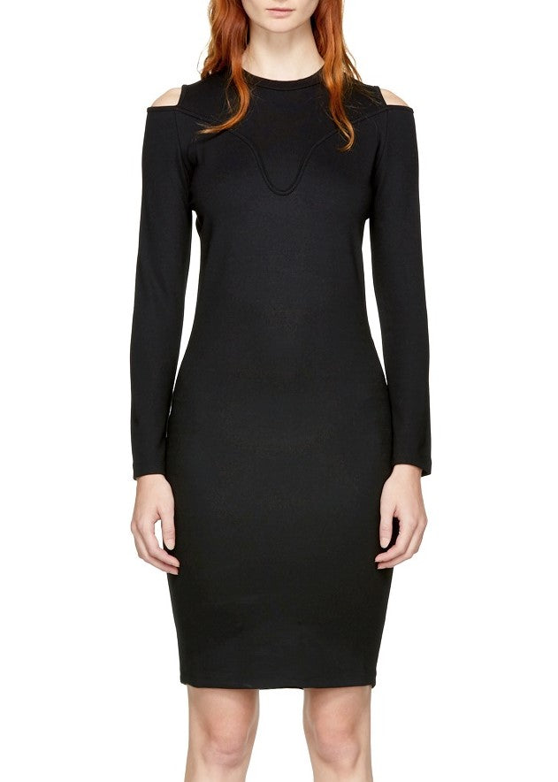 Carven ballerina dress black
