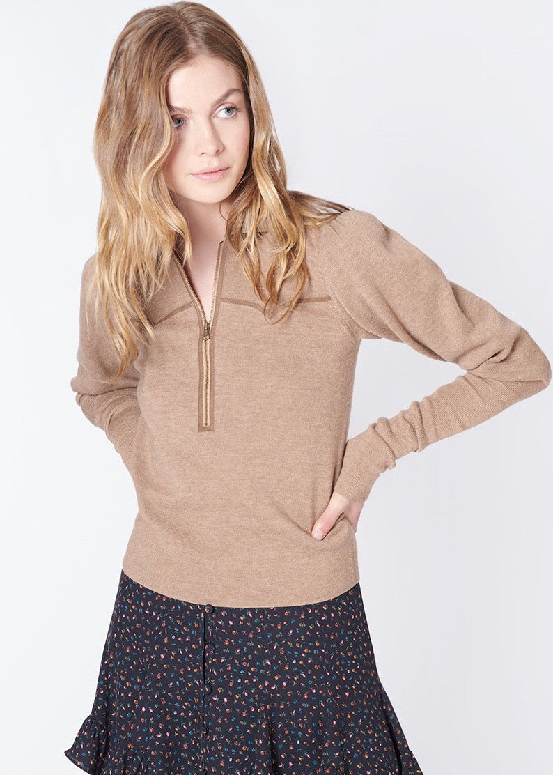 Veronica Beard Paige sweater in beige
