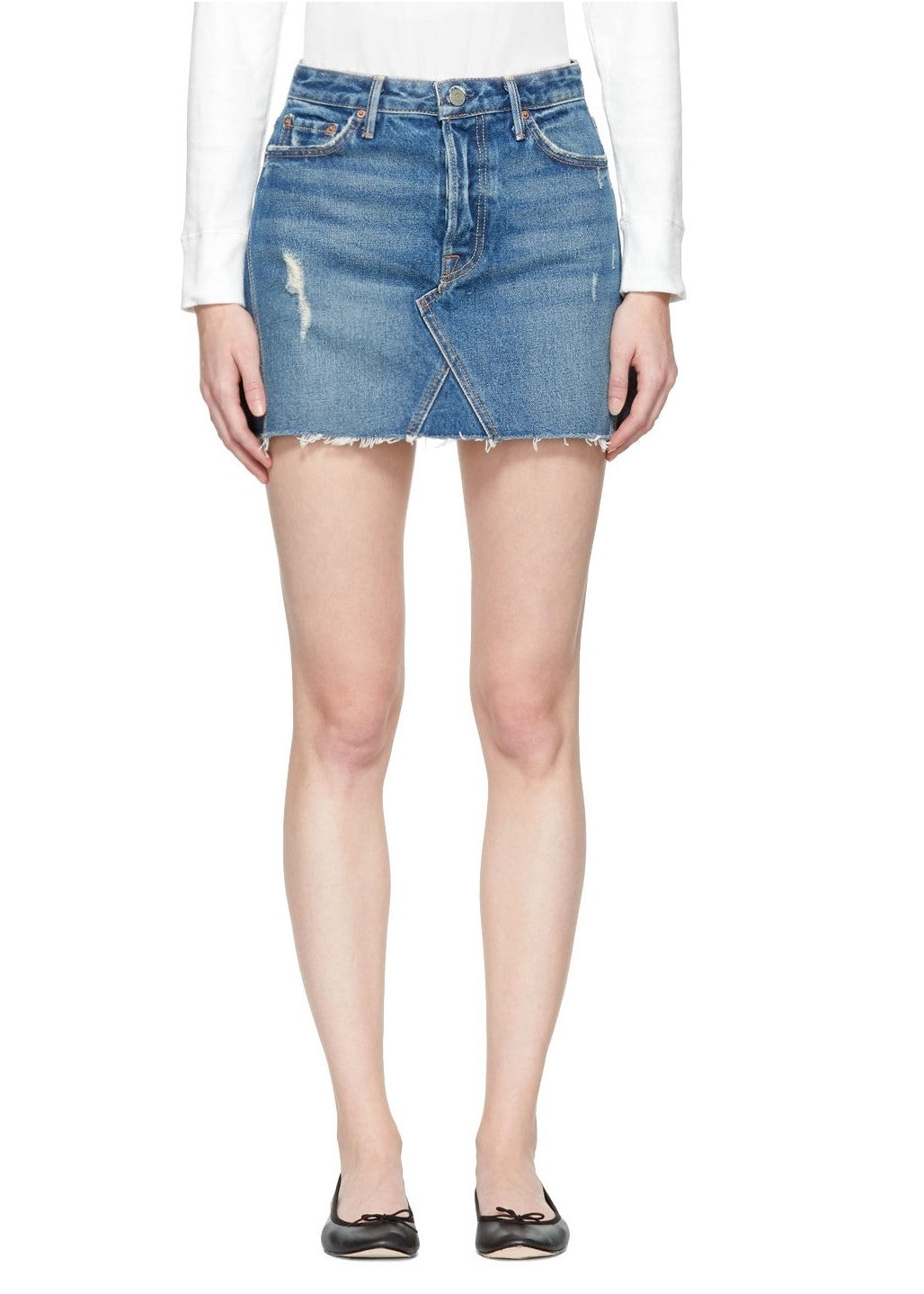 Grlfrnd denim Eva gusset skirt - walk this way