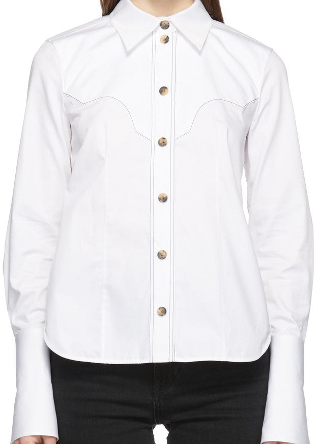Khaite Dena western shirt in white