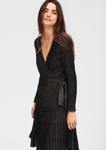 Tara Jamon knitted dress in  noir