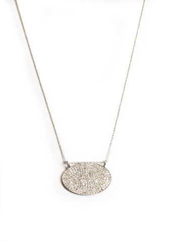 Lera Jewels white gold midi oval chain necklace