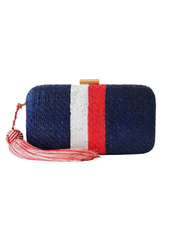 Kayu Designs Florence clutch in blue