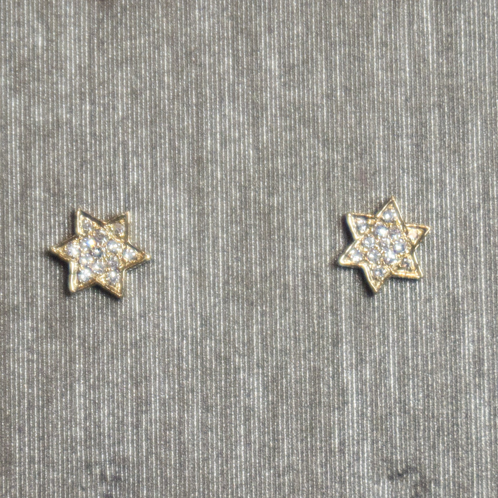 Rocks with Soul Jewish Star Studs Yellow Gold