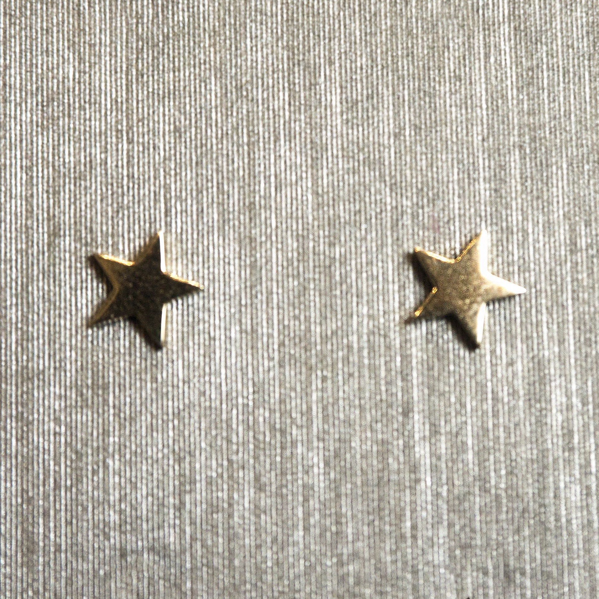 Rocks with Soul Gold Star Studs Yellow Gold