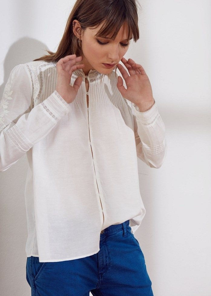 Swildens cotton blouse white