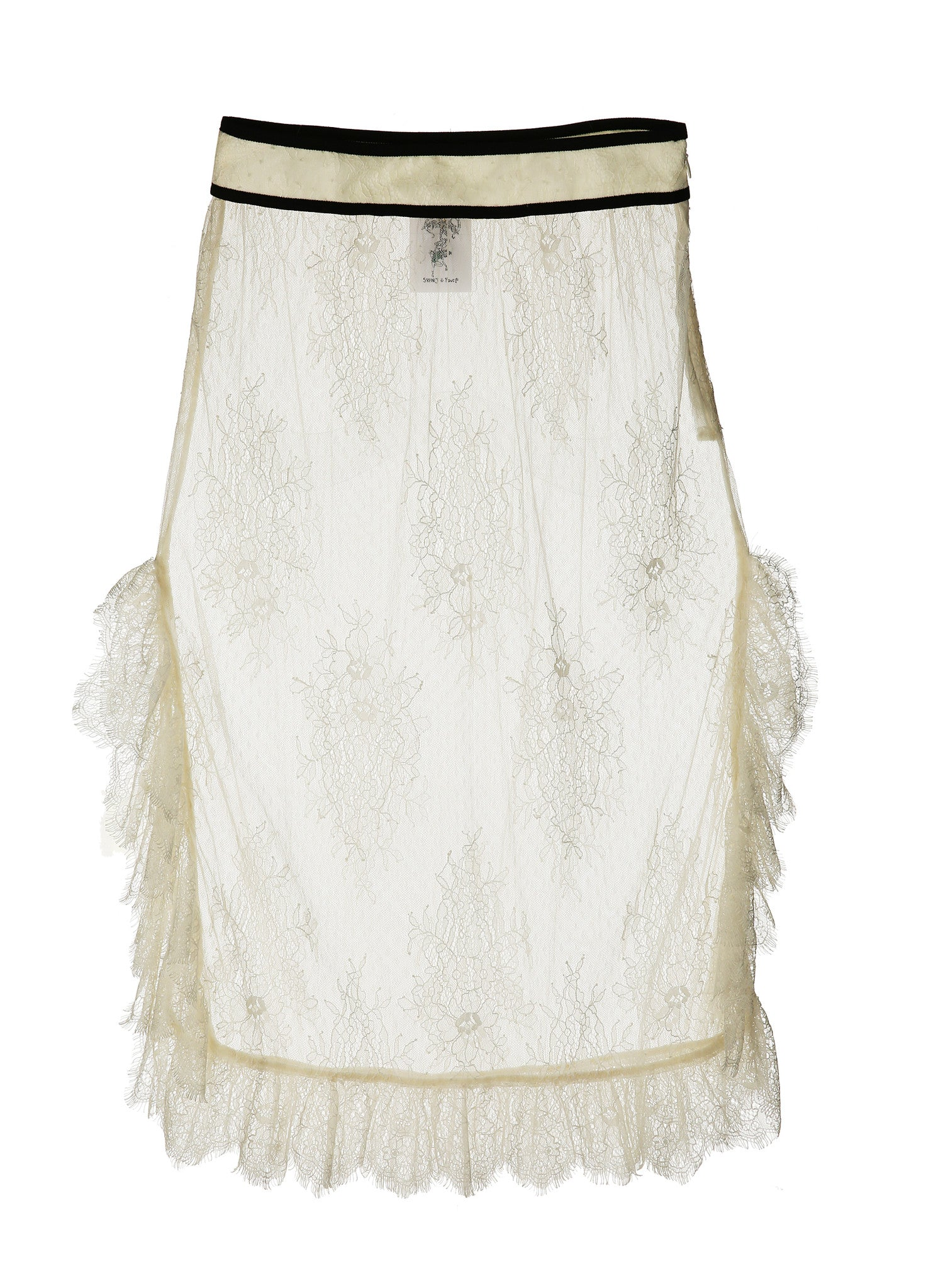 SJYP LACE SEE-THRU SKIRT ivory