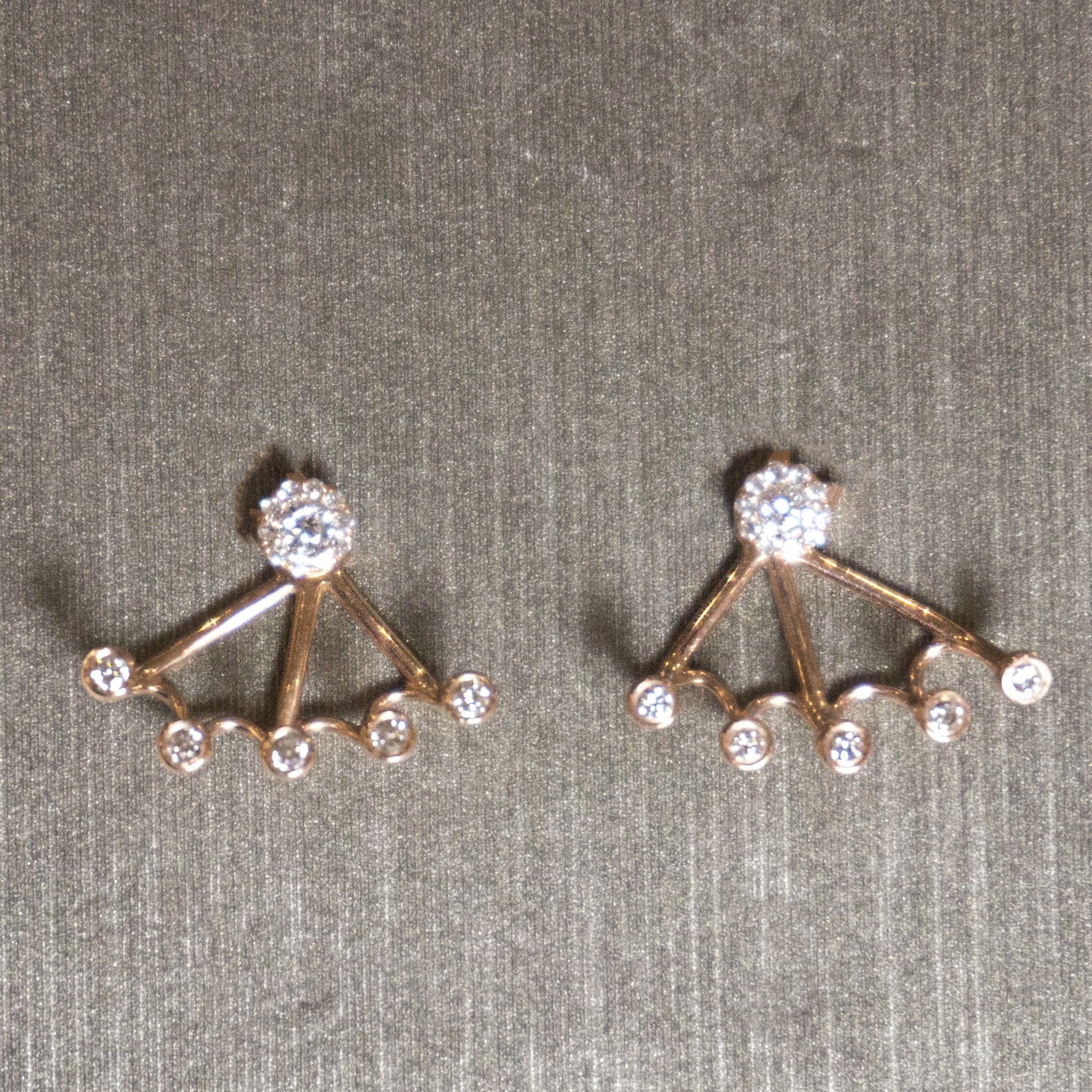 Rocks with Soul Diamond Studs with Cuff Backs