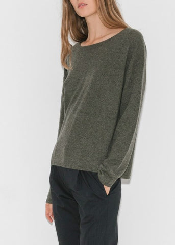 Nili Lotan rylie sweater army green