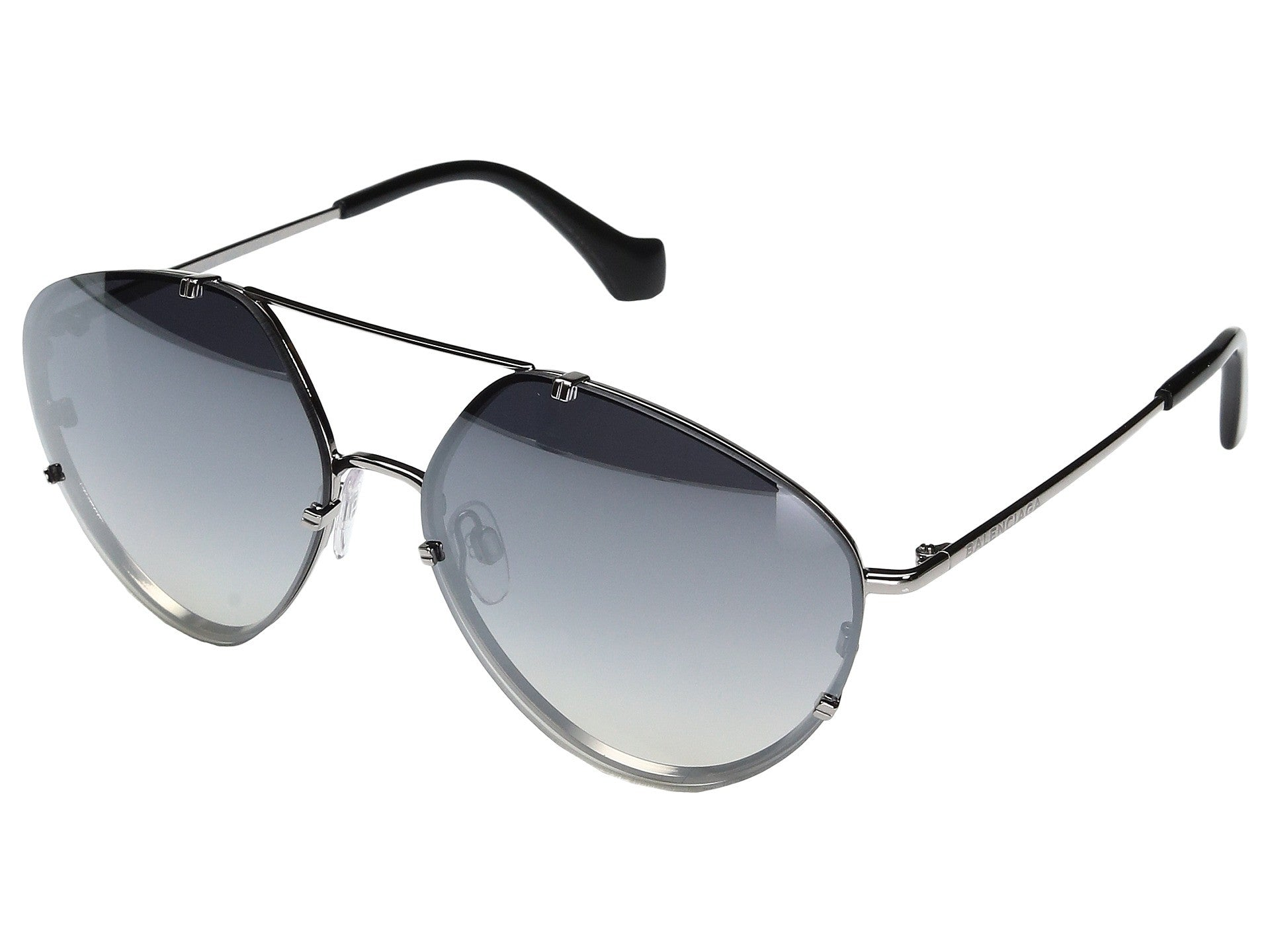 Balenciaga oval aviator smoke