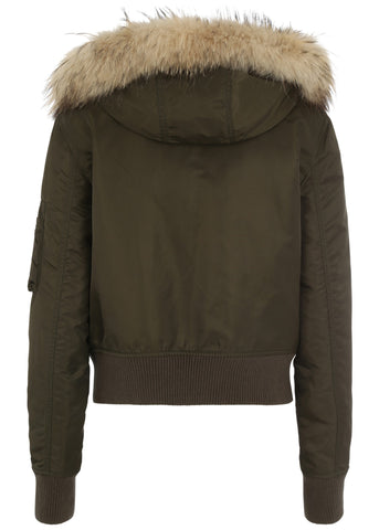 Blonde No. 8 boston 515 kaki jacket with fur hood