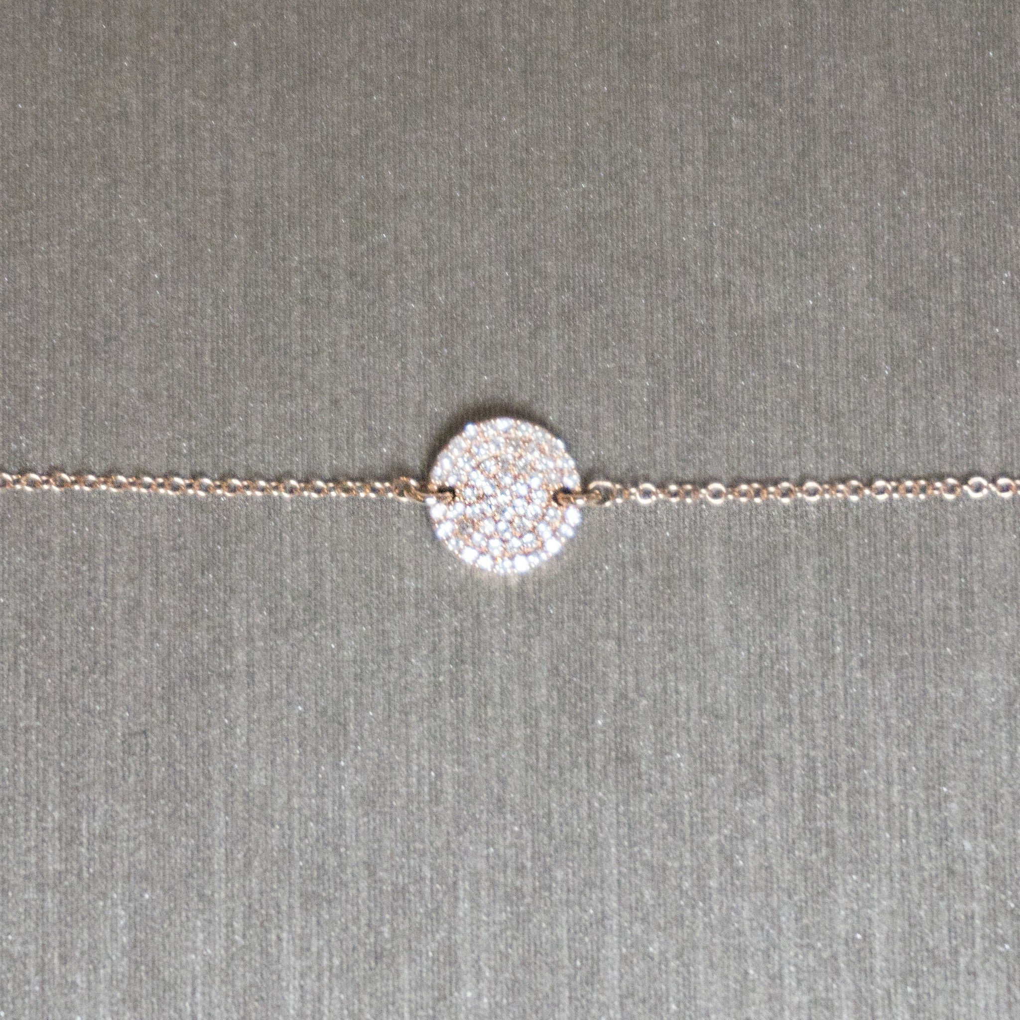 Rocks with Soul Pave Disc Bracelet