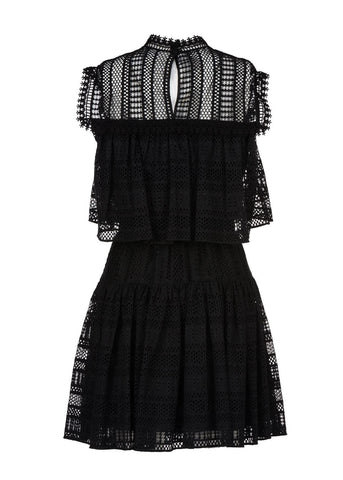 Philosophy di Lorenzo Serafini tiered dress black
